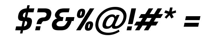 Munistic Italic Font OTHER CHARS