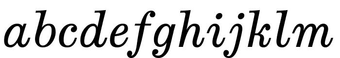 Munson Italic Font LOWERCASE