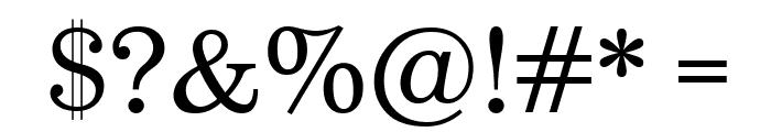 Munson Font OTHER CHARS