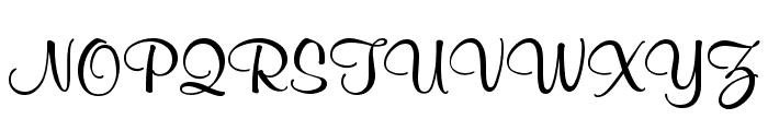 Mural Script Font UPPERCASE