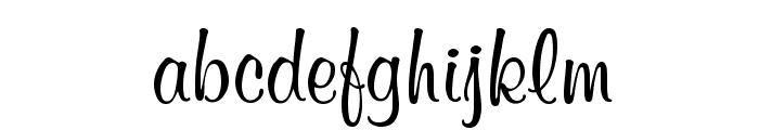 Mural Script Font LOWERCASE