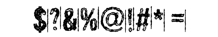 MurderousDesireDEMO Font OTHER CHARS