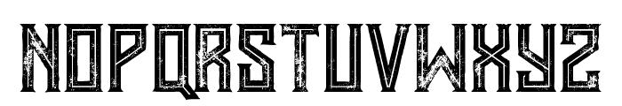 Murray inline grunge Font UPPERCASE