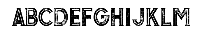 Murray inline grunge Font LOWERCASE