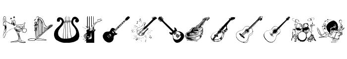 MusicInstruments Font UPPERCASE