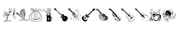MusicInstruments Font LOWERCASE
