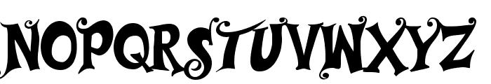Musicals Font UPPERCASE