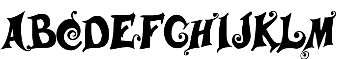 Musicals Font LOWERCASE