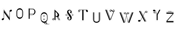 Musiker single Font UPPERCASE