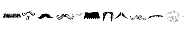 Mustache Gallery Font UPPERCASE