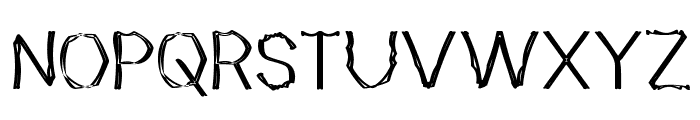 Mutant Bamboo II Font UPPERCASE