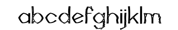 Mutant Bamboo II Font LOWERCASE