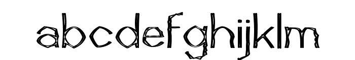 Mutant Bamboo I Font LOWERCASE
