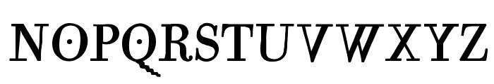 MutantA-MediumOblique Font UPPERCASE