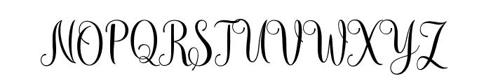 mudhisascriptdemo Font UPPERCASE