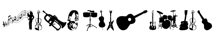 music tfb Font UPPERCASE
