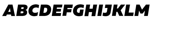 Muller Black Italic Font UPPERCASE