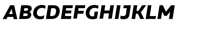 Muller ExtraBold Italic Font UPPERCASE