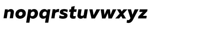 Muller ExtraBold Italic Font LOWERCASE