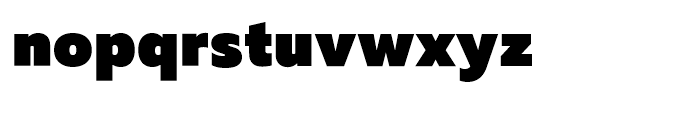 Muller Heavy Font LOWERCASE