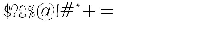 Murray Hill Regular Font OTHER CHARS