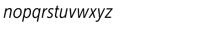 Museo Sans Condensed 300 Italic Font LOWERCASE