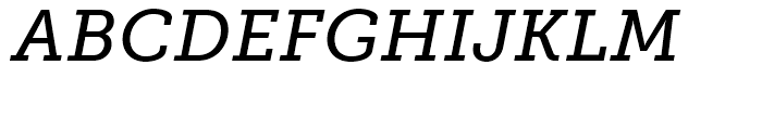 Museo Slab 500 Italic Font UPPERCASE