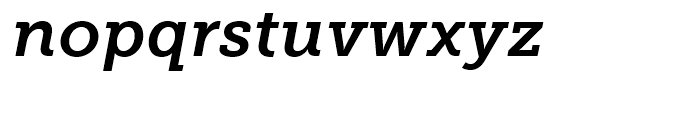 Museo Slab 700 Italic Font LOWERCASE