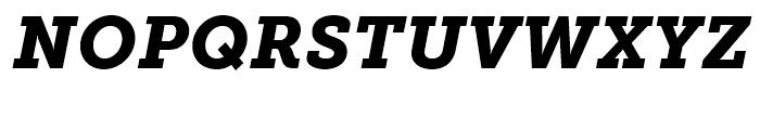 Museo Slab 900 Italic Font UPPERCASE