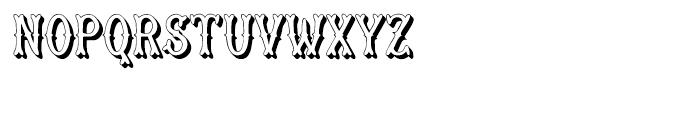 Muskitos Caps Shad Down Font UPPERCASE