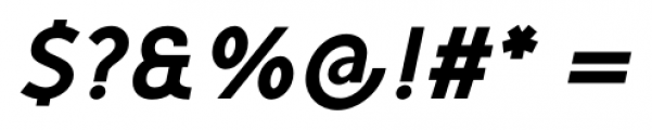 Mucho Sans Heavy Italic Font OTHER CHARS
