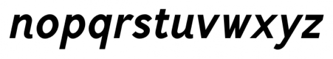 Mucho Sans Heavy Italic Font LOWERCASE