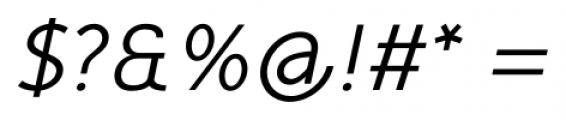 Mucho Sans Italic Font OTHER CHARS