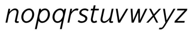 Mucho Sans Italic Font LOWERCASE