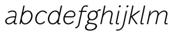 Mucho Sans Light Italic Font LOWERCASE