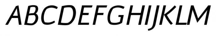 Murena Italic Font UPPERCASE