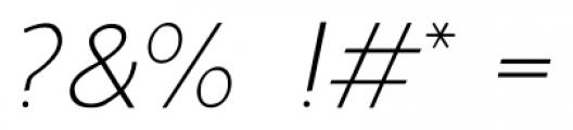 Murena Light Italic Font OTHER CHARS