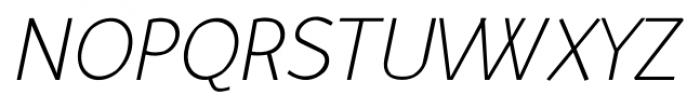 Murena Light Italic Font UPPERCASE