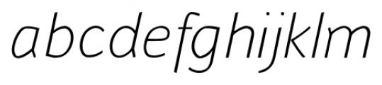 Murena Light Italic Font LOWERCASE