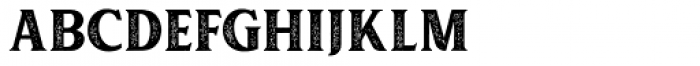 Muara Rough Font UPPERCASE