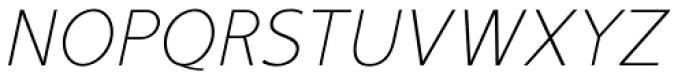 Mucho Sans Thin Italic Font UPPERCASE