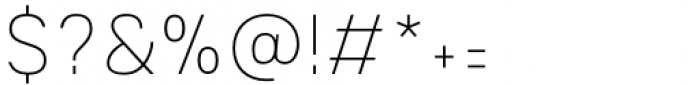 Mula Slim Thin Font OTHER CHARS