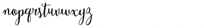 Mulberry Script Bold Font LOWERCASE