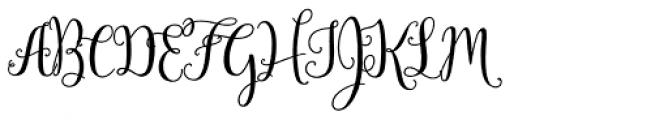 Mulberry Script Pro Bold Font UPPERCASE