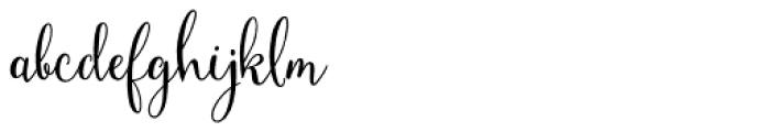 Mulberry Script Pro Bold Font LOWERCASE
