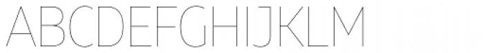 Muller Narrow Hairline Font UPPERCASE
