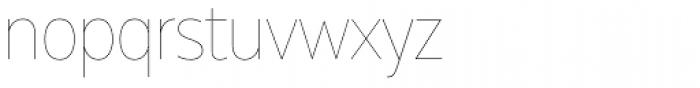 Muller Narrow Hairline Font LOWERCASE