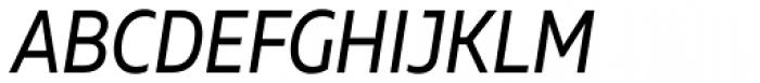 Muller Narrow Italic Font UPPERCASE