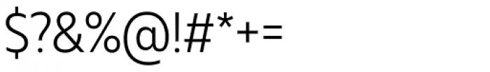 Muller Narrow Light Font OTHER CHARS