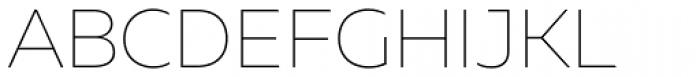 Muller Thin Font UPPERCASE
